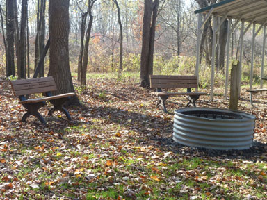 Sleepy Hollow State Park Fire Circle and benches