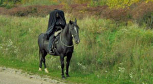 In the quiet valley known as Sleepy Hollow State Park, the Headless Horseman still rides today...looking for his lost head.