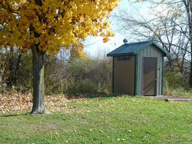 Sleepy Hollow State Park outhouse