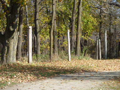 Sleepy Hollow State Park picket poles west side.